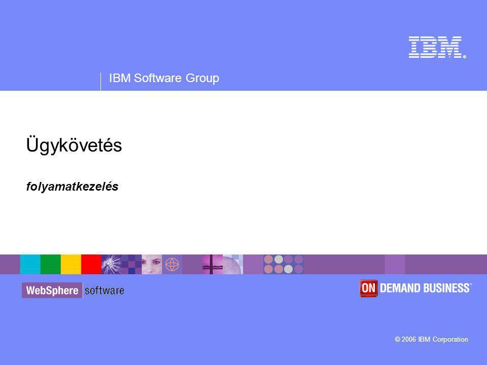 ® IBM Software Group © 2006 IBM Corporation Ügykövetés folyamatkezelés