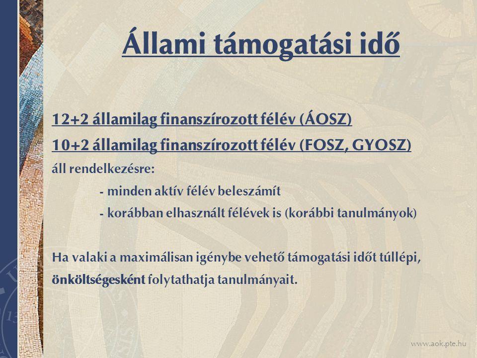 www.aok.pte.hu Tanulmányi okokból történő elbocsátás FONTOS!!.