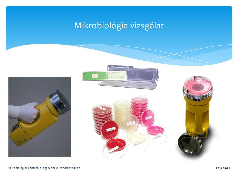 2013.04.25.Mikrobiológiai kontroll a légtechnikai rendszerekben Mikrobiológia vizsgálat