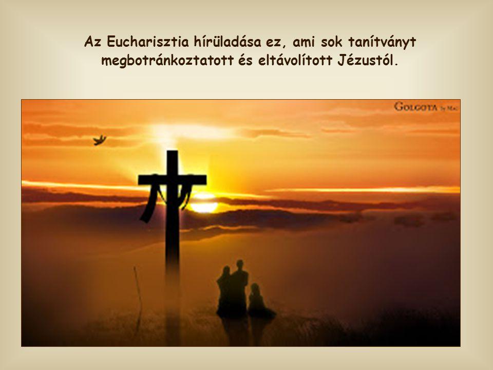 """Szavai azonban titokzatosabbá és kellemetlenebbé válnak, amikor Jézus ezt mondja magáról: """"A kenyér pedig, amit én adok, az én testem a világ életéért"""
