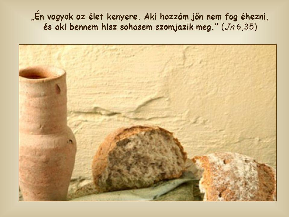 Ha ezzel a kenyérrel táplálkozunk, nem vágyunk semmilyen más eledelre.