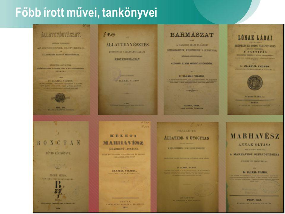 5 Főbb írott művei, tankönyvei