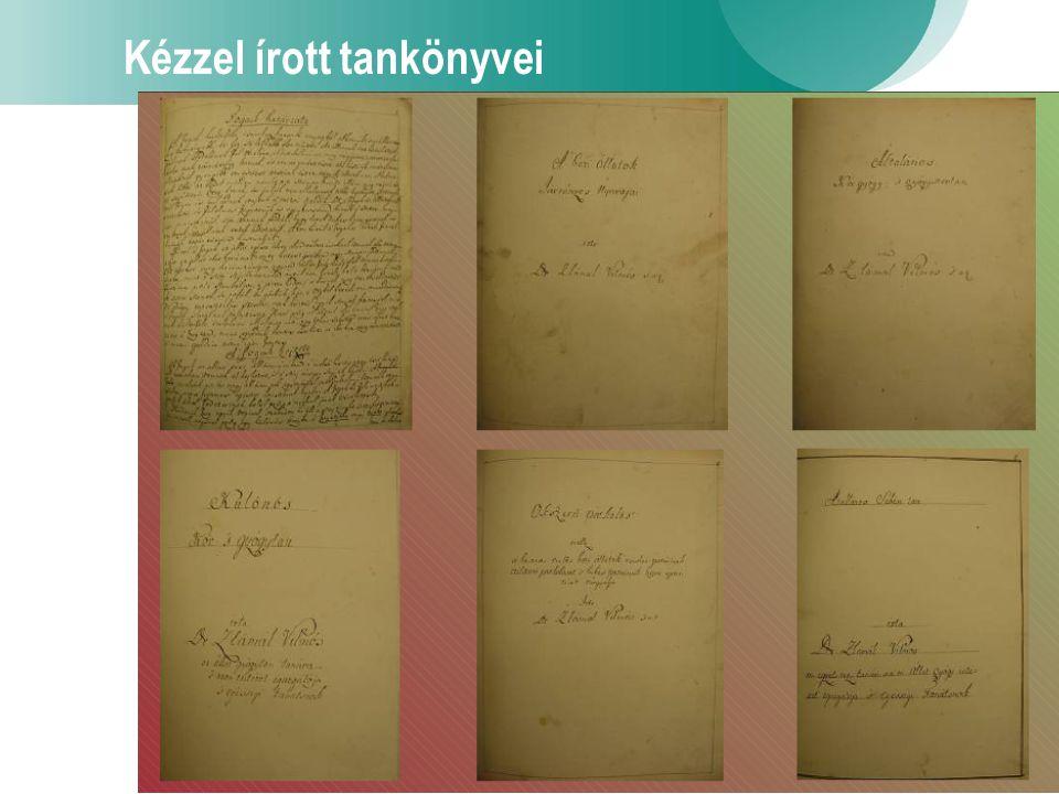 6 Kézzel írott tankönyvei