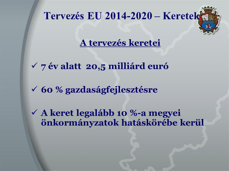 2014-2020 EU ciklus Megvalósítani tervezett nagyobb fejlesztések 2.