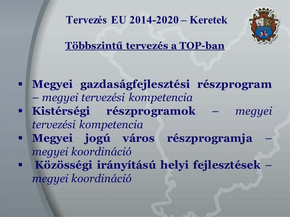 Tervezés EU 2014-2020 Megyei Területfejlesztési Koncepció A tervező munka alapja a Nemzeti Fejlesztés 2030 – Országos Fejlesztési és Területfejlesztési Koncepció megyei területi vonatkozása szerint:  A Jászság, valamint Szolnok és Törökszentmiklós térsége: az ország gazdaságilag dinamikusabb térségei közé tartozik és kapcsolódik Budapest nagyvárosi térségéhez.