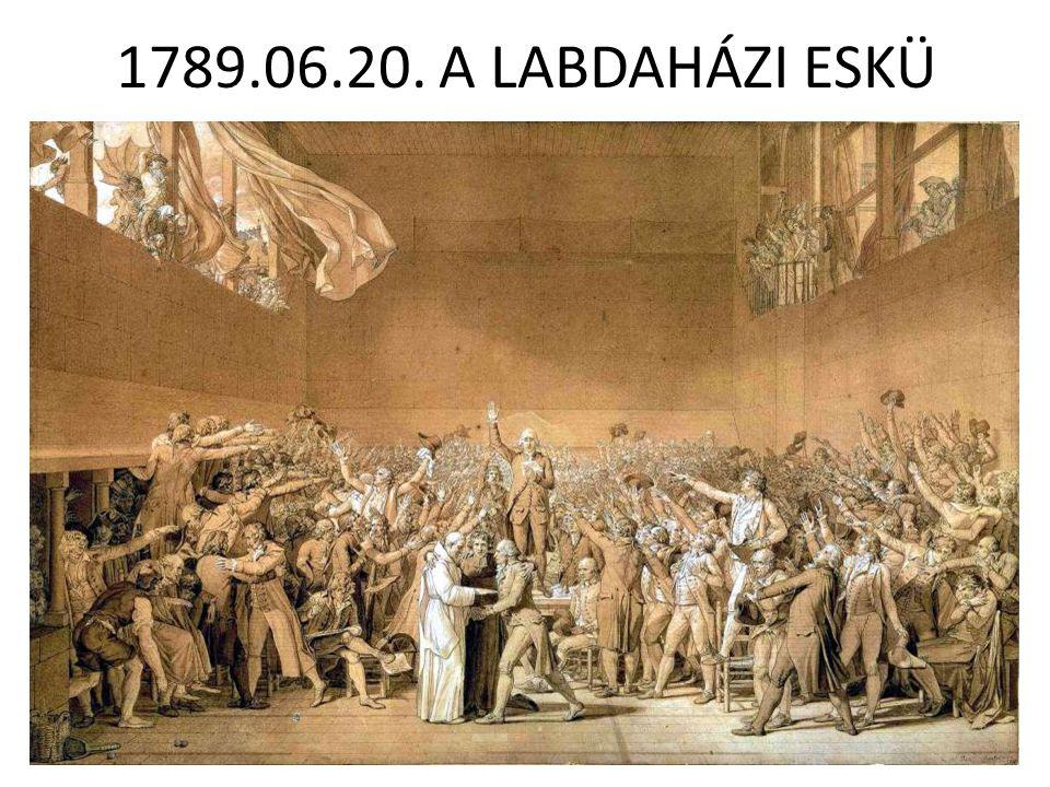 1789.06.20. A LABDAHÁZI ESKÜ