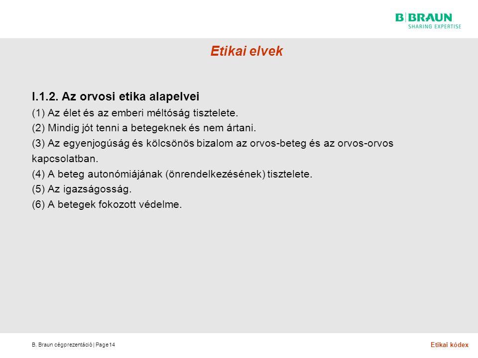 B.Braun cégprezentáció | Page Etikai elvek I.1.2.