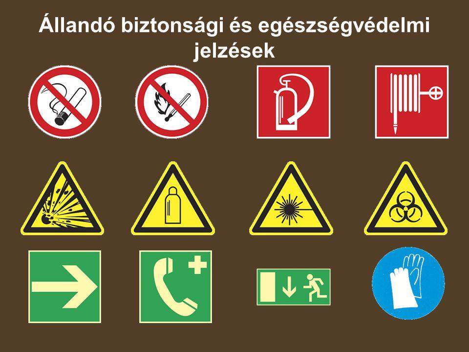 Tartályokat, csöveket figyelmeztető jelzéssel, és az anyagra vonatkozó címkézéssel kell ellátni.
