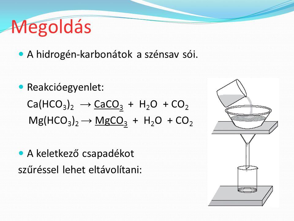 A hidrogén-karbonátok a szénsav sói.