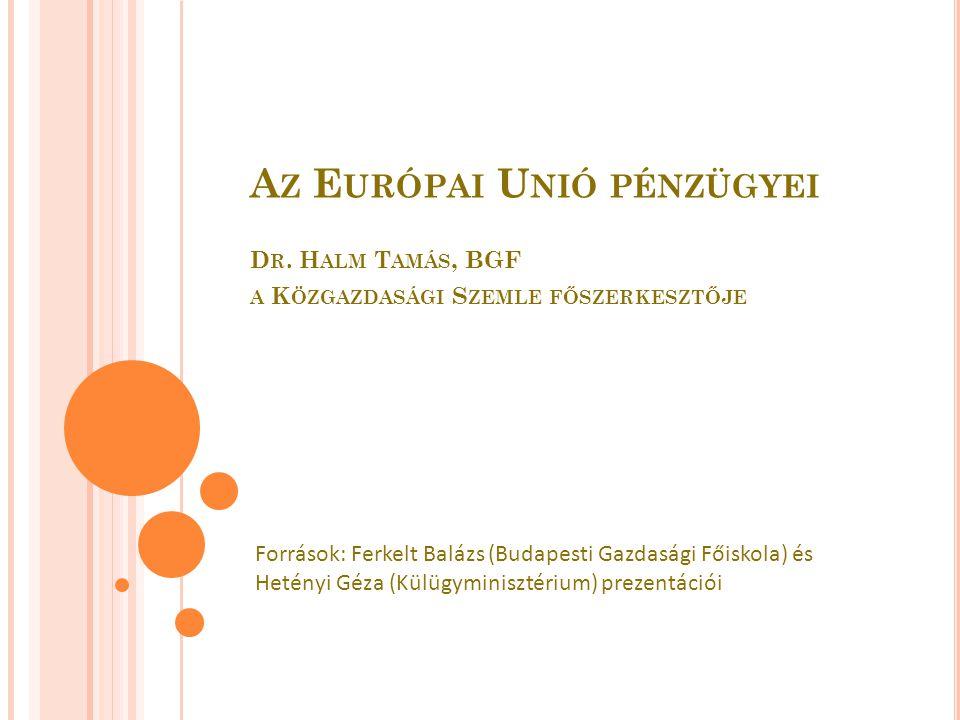 M AGYARORSZÁG ÉS A KÖZÖS KÖLTSÉGVETÉS 1990-től csatlakozásra felkészítő alapok (PHARE, ISPA, SAPARD) 2004–2006: Kb.