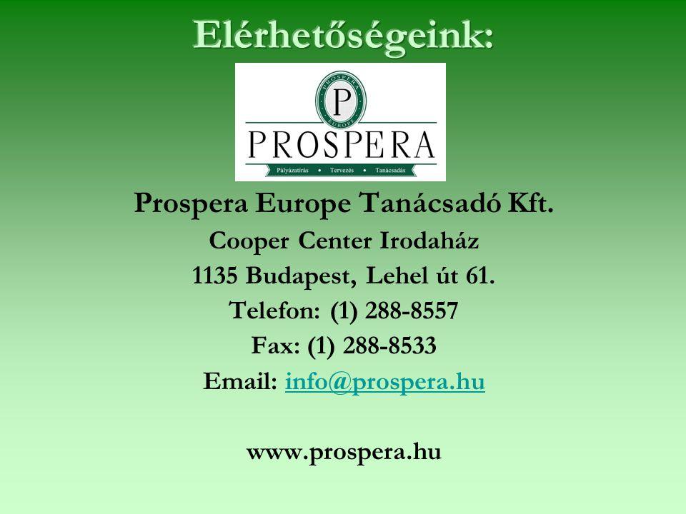 Prospera Europe Tanácsadó Kft. Cooper Center Irodaház 1135 Budapest, Lehel út 61.