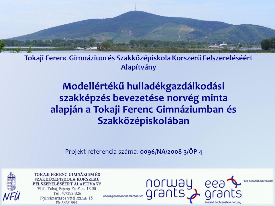 Köszönetnyilvánítás Norvég Kormány-Norvég Külügyminisztérium Nemzeti Fejlesztési Ügynökség VÁTI - Magyar Regionális Fejlesztési és Urbanisztikai Nonprofit Kft.