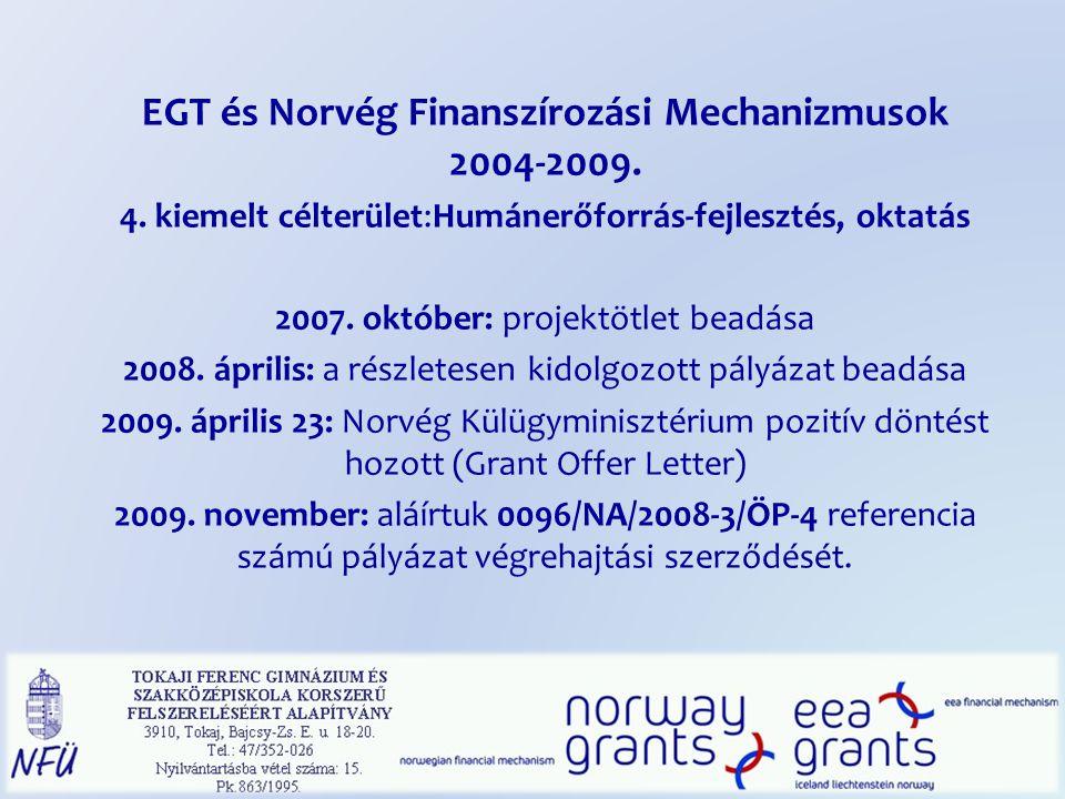 EGT és Norvég Finanszírozási Mechanizmusok 2004-2009.