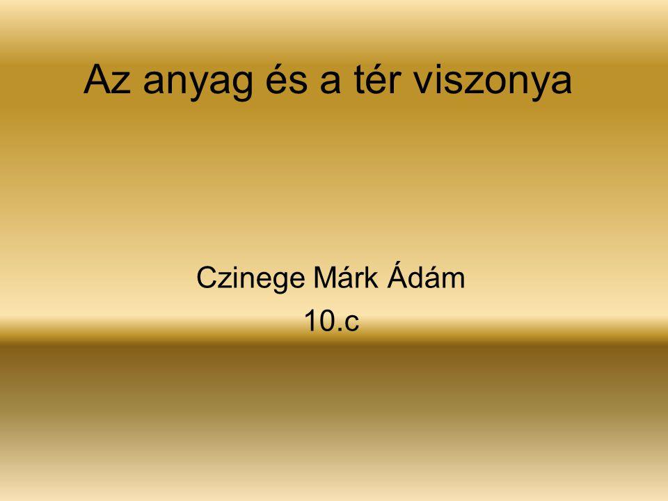 Az anyag és a tér viszonya Czinege Márk Ádám 10.c