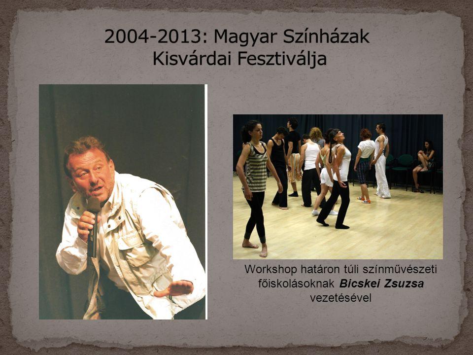 Workshop határon túli színművészeti főiskolásoknak Bicskei Zsuzsa vezetésével