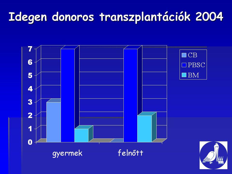 Idegen donoros transzplantációk 2004