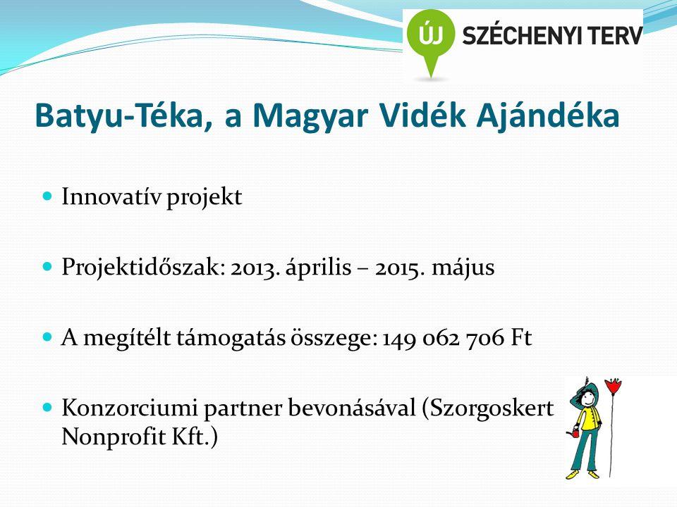 Batyu-Téka, a Magyar Vidék Ajándéka Innovatív projekt Projektidőszak: 2013.