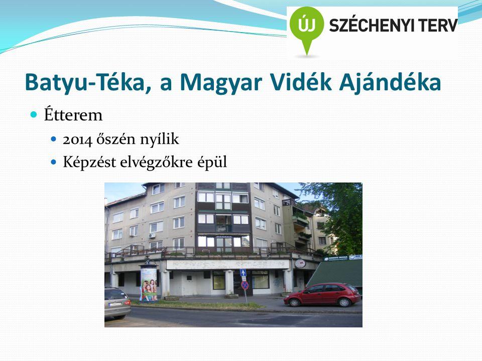 Batyu-Téka, a Magyar Vidék Ajándéka Étterem 2014 őszén nyílik Képzést elvégzőkre épül