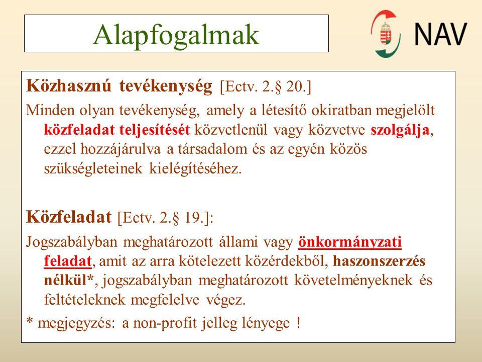 Nagy JózsefCivilek adózása 2012.7 7 Alapfogalmak Közhasznú tevékenység [Ectv.