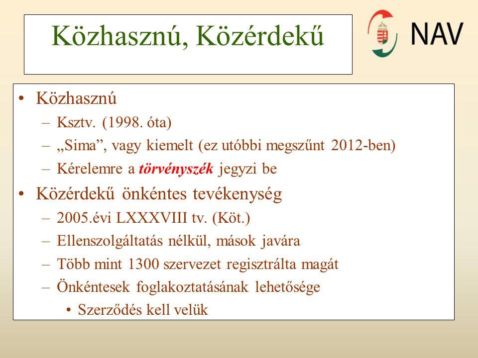Közhasznú, Közérdekű Közhasznú –Ksztv. (1998.