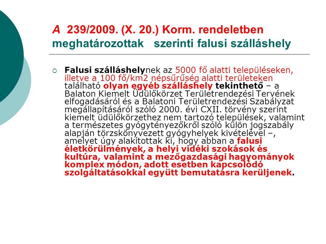 A 239/2009.(X. 20.) Korm.