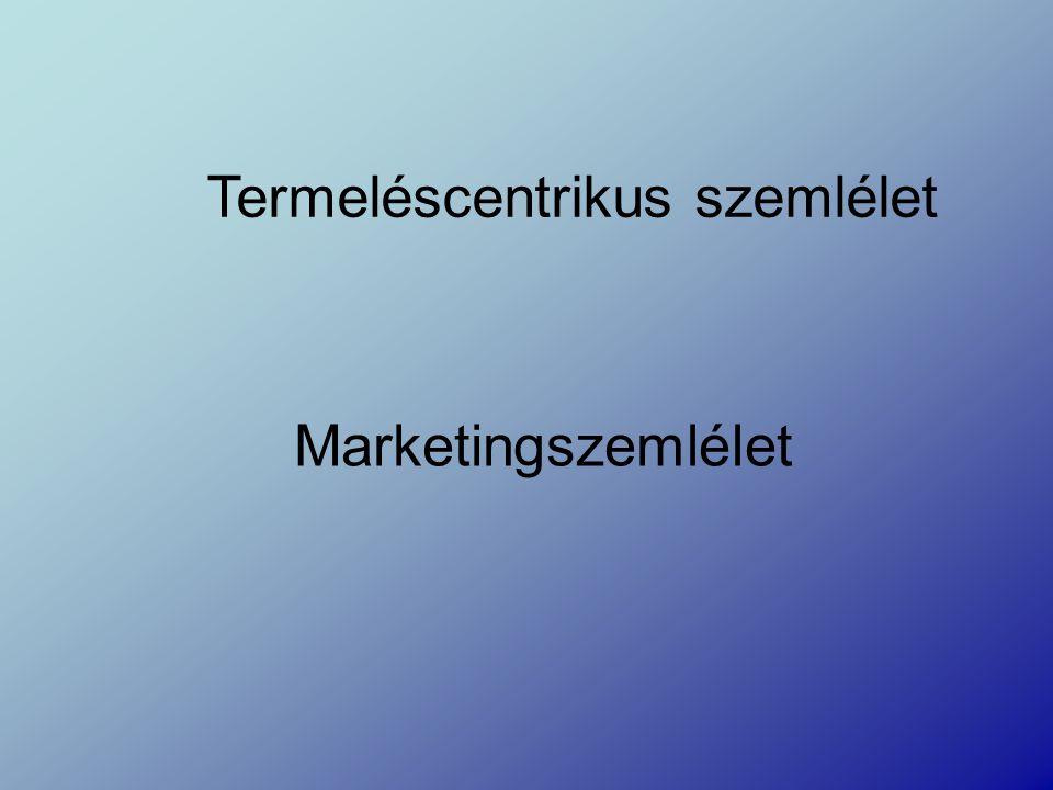 Termeléscentrikus szemlélet Marketingszemlélet