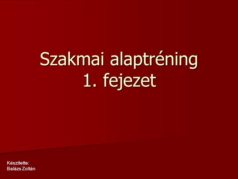 Szakmai alaptréning 1. fejezet Készítette: Balázs Zoltán