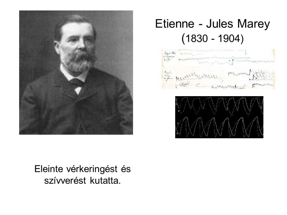 Etienne - Jules Marey ( 1830 - 1904) Eleinte vérkeringést és szívverést kutatta.