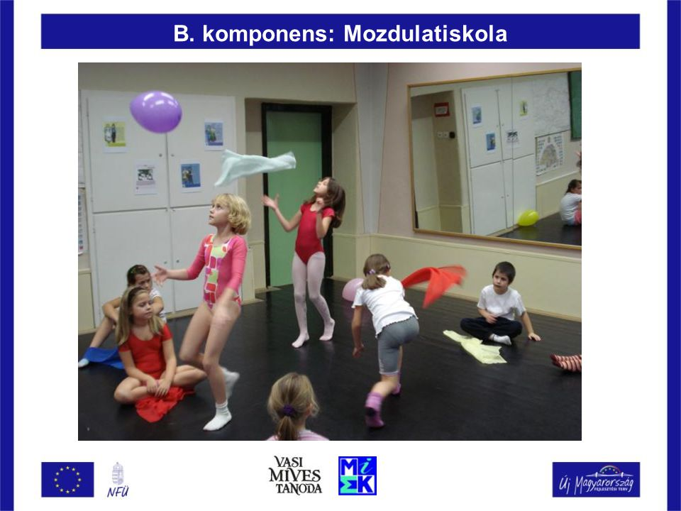 B. komponens: Mozdulatiskola