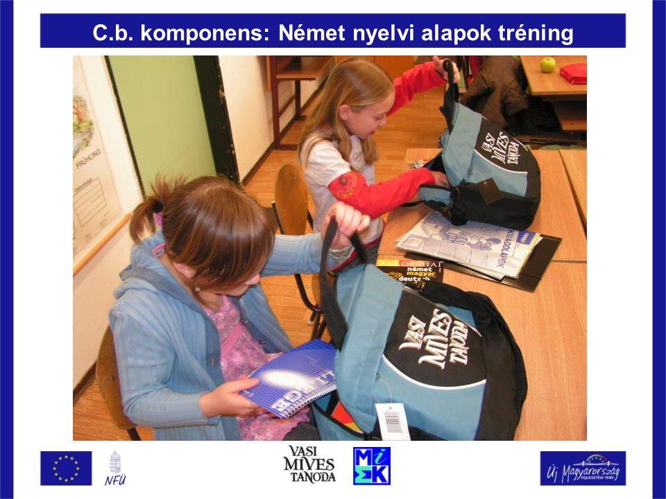 C.b. komponens: Német nyelvi alapok tréning
