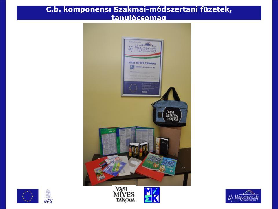 C.b. komponens: Szakmai-módszertani füzetek, tanulócsomag