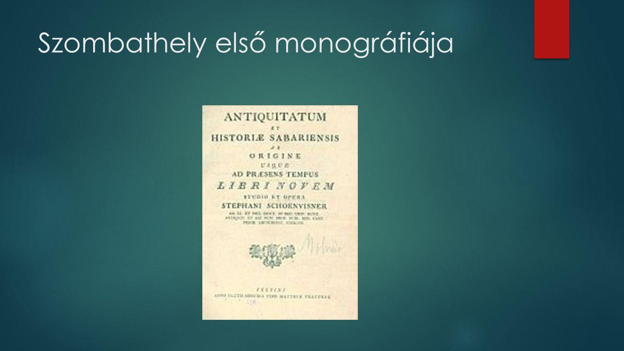 Szombathely első monográfiája