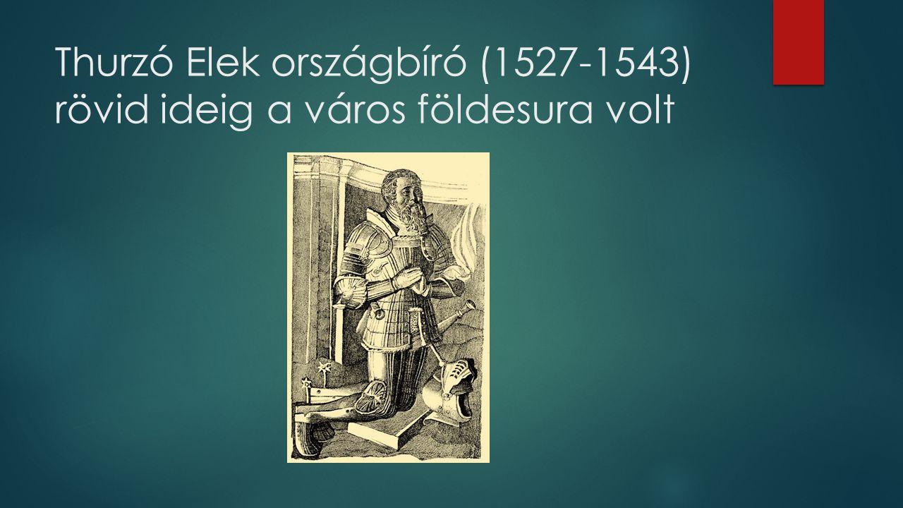 Thurzó Elek országbíró (1527-1543) rövid ideig a város földesura volt