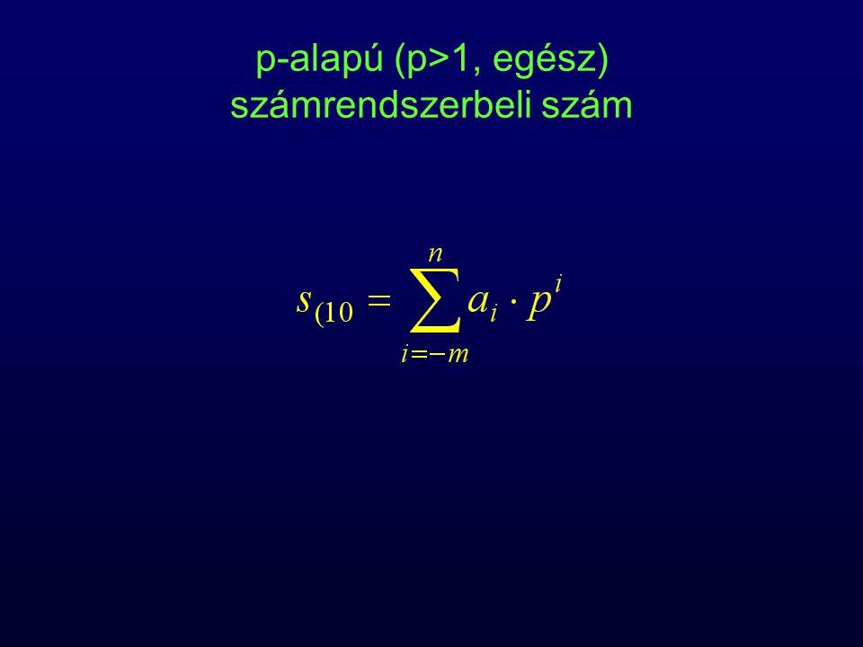 p-alapú (p>1, egész) számrendszerbeli szám