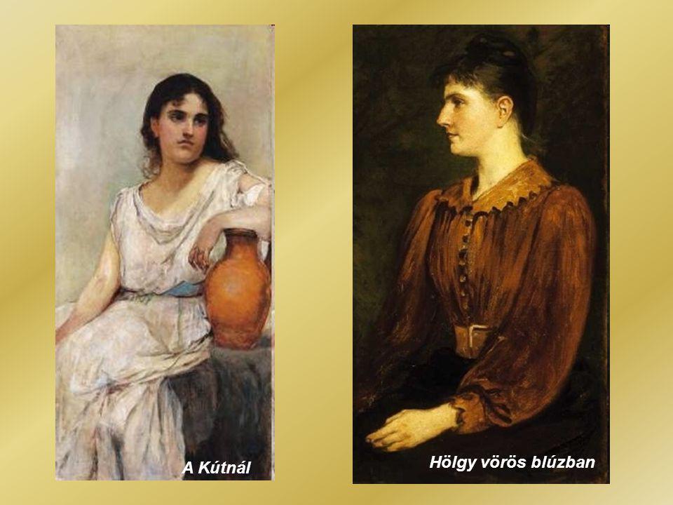 Ilona fehér ruhában Lippich Ilona portréja (Tavasz)
