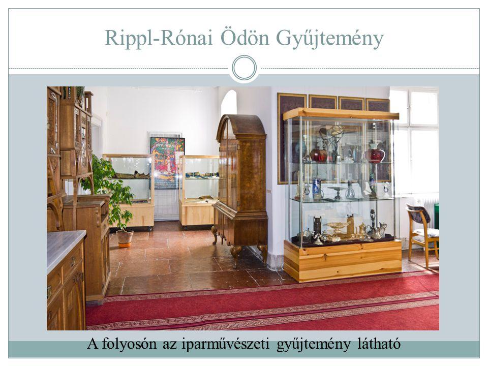 Rippl-Rónai Ödön Gyűjtemény A folyosón az iparművészeti gyűjtemény látható