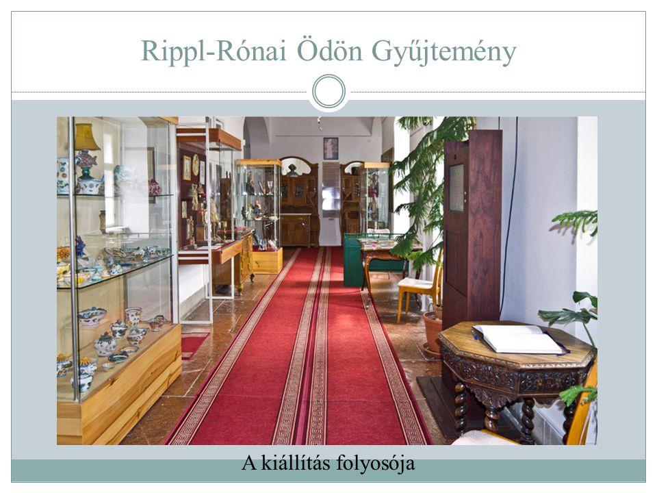 Rippl-Rónai Ödön Gyűjtemény A kiállítás folyosója