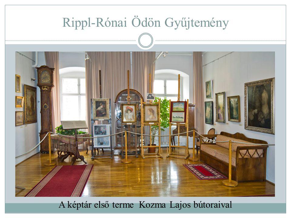 Rippl-Rónai Ödön Gyűjtemény A képtár első terme Kozma Lajos bútoraival