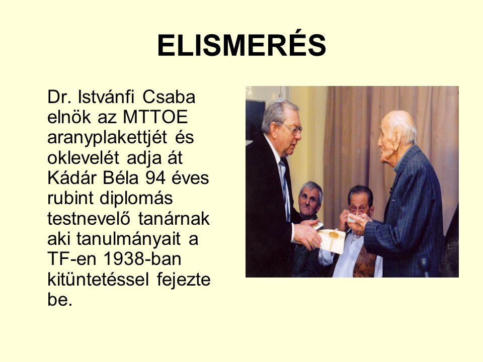 ELISMERÉS Dr.