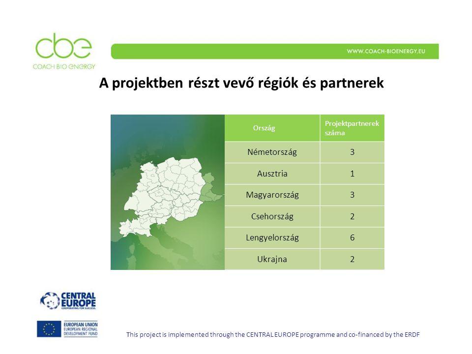 A projektben részt vevő régiók és partnerek Ország Projektpartnerek száma Németország3 Ausztria1 Magyarország 3 Csehország2 Lengyelország6 Ukrajna2 This project is implemented through the CENTRAL EUROPE programme and co-financed by the ERDF