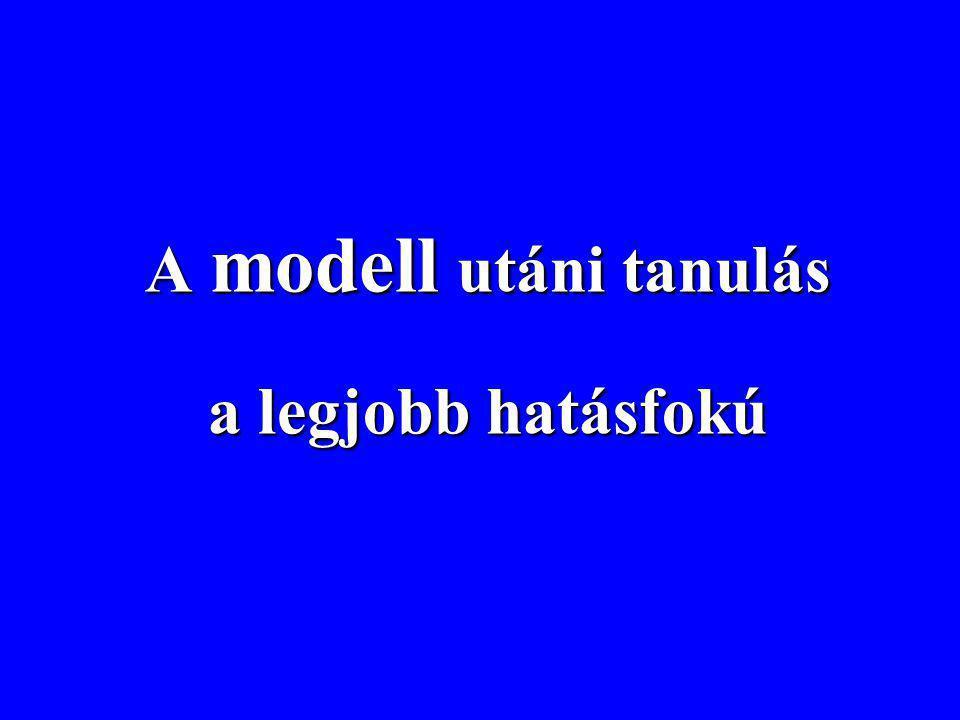 A modell utáni tanulás a legjobb hatásfokú