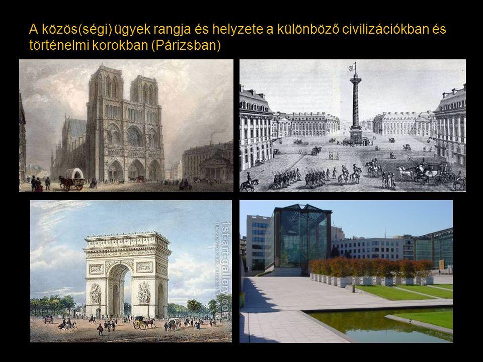 A közös(ségi) ügyek rangja és helyzete a különböző civilizációkban és történelmi korokban (Párizsban)
