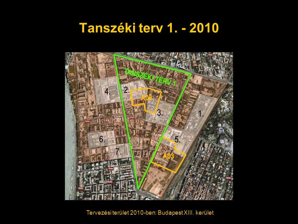 Tanszéki terv 1. - 2010 Tervezési terület 2010-ben: Budapest XIII. kerület