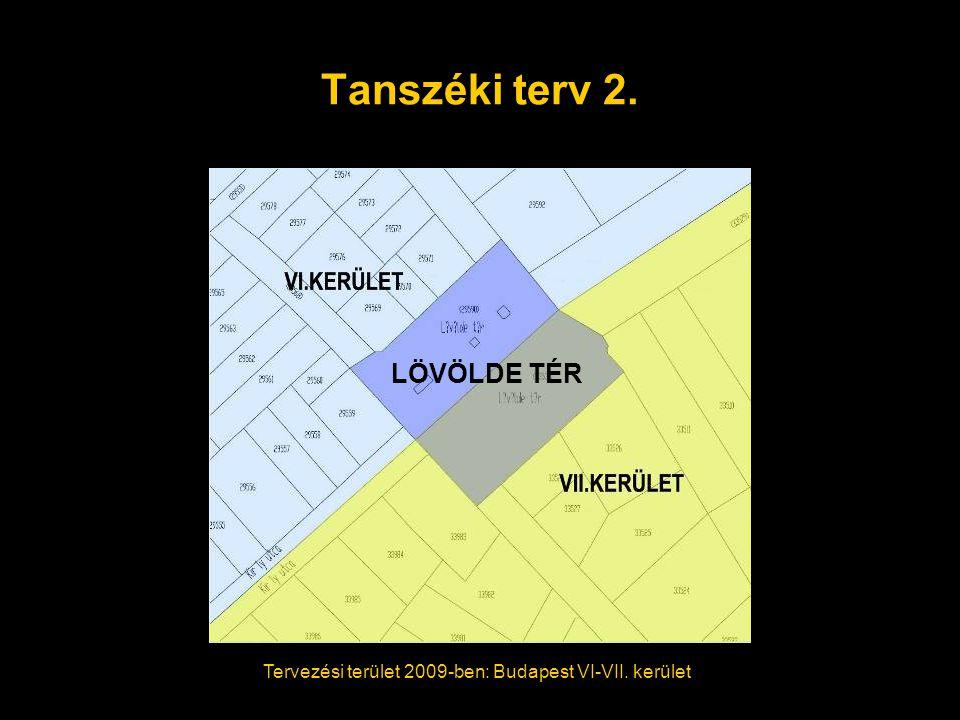 Tanszéki terv 2. Tervezési terület 2009-ben: Budapest VI-VII. kerület LÖVÖLDE TÉR