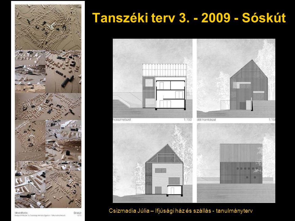 Tanszéki terv 3. - 2009 - Sóskút Csizmadia Júlia – Ifjúsági ház és szállás - tanulmányterv