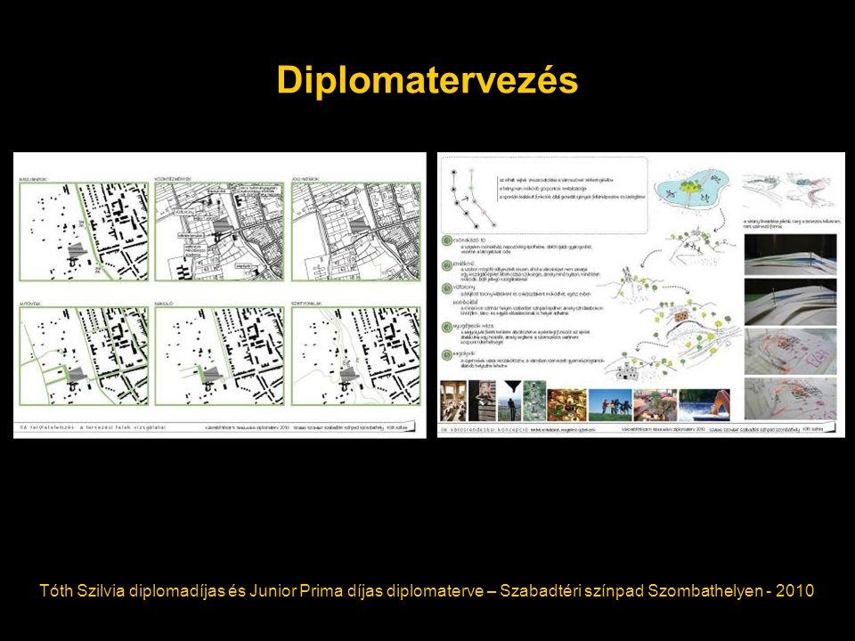 Diplomatervezés Tóth Szilvia diplomadíjas és Junior Prima díjas diplomaterve – Szabadtéri színpad Szombathelyen - 2010