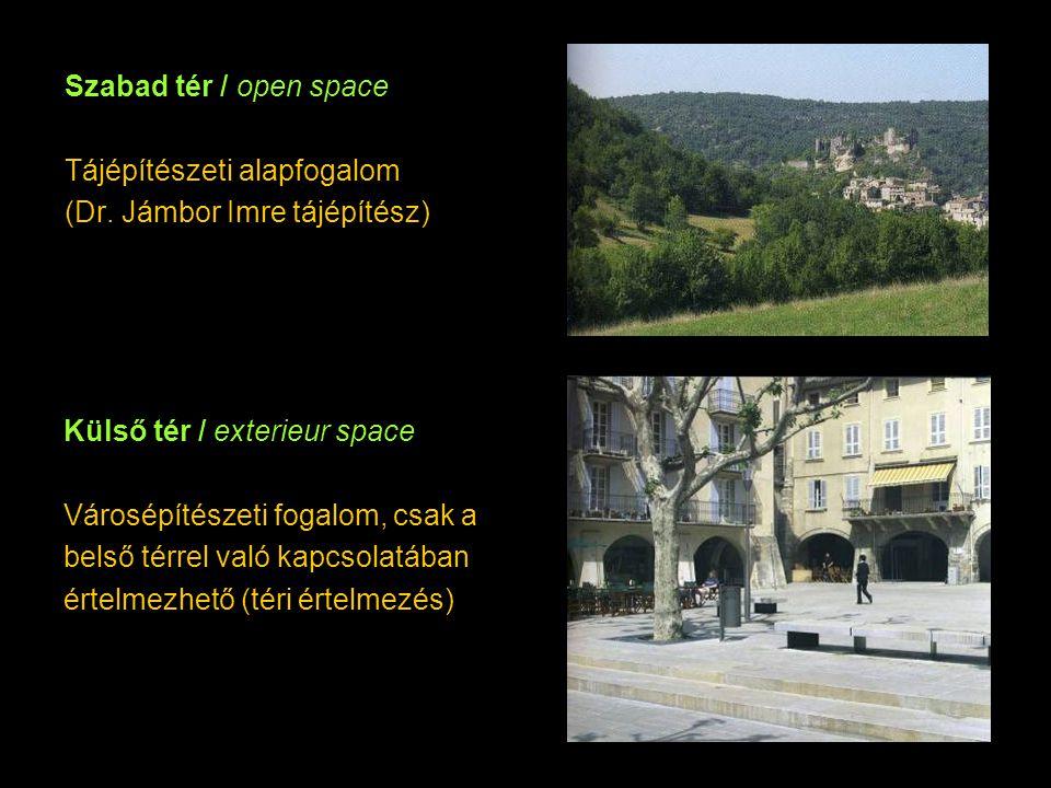 Szabad tér / open space Tájépítészeti alapfogalom (Dr.