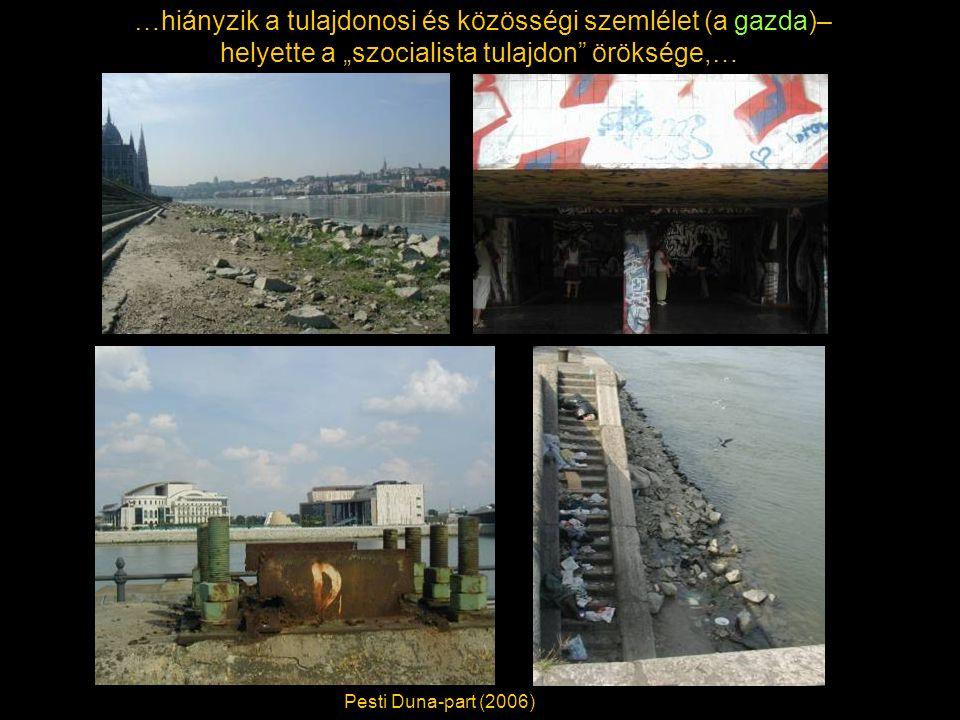 """…hiányzik a tulajdonosi és közösségi szemlélet (a gazda)– helyette a """"szocialista tulajdon öröksége,… Pesti Duna-part (2006)"""