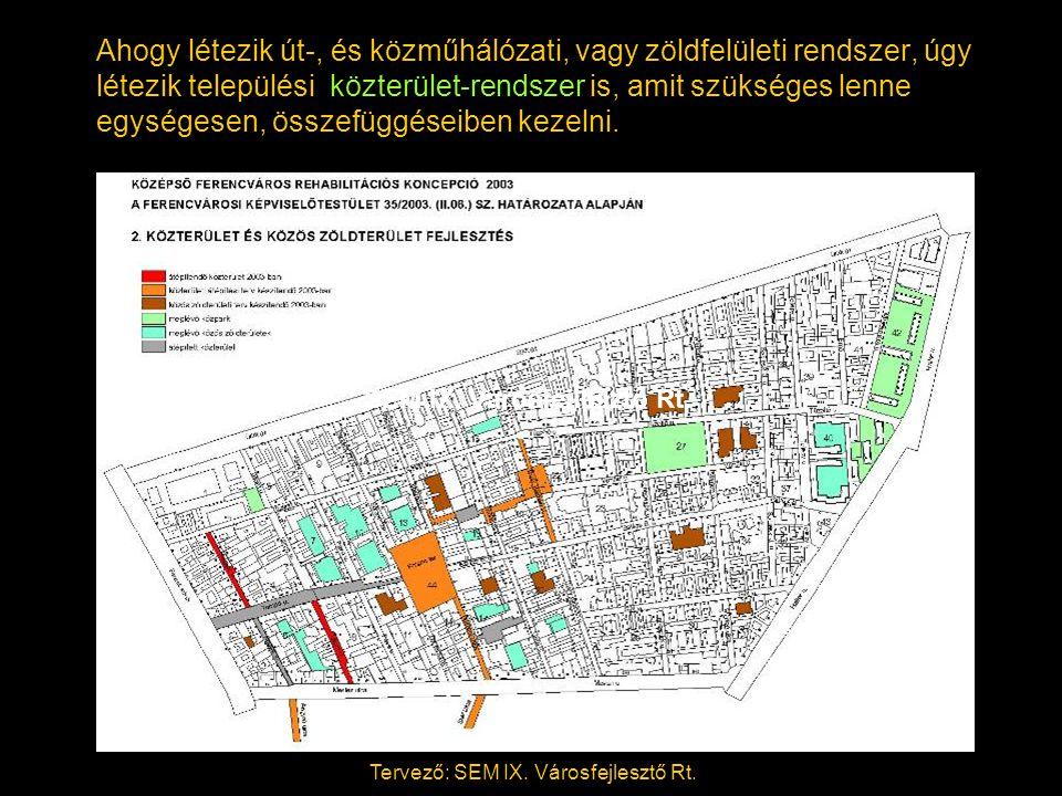 Ahogy létezik út-, és közműhálózati, vagy zöldfelületi rendszer, úgy létezik települési közterület-rendszer is, amit szükséges lenne egységesen, összefüggéseiben kezelni.
