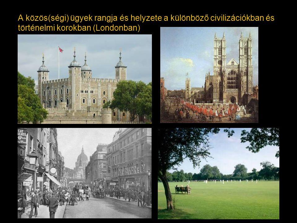 Köztér / public space Korlátozás nélkül, szabadon elérhető városi tér (használat szerinti értelmezés) Szóhasználatban: Közterület / public domain Köztulajdonban lévő városi terület (tulajdonjogi értelmezés)